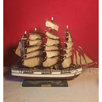 "Four-masted ship model representing the ""Great Republic"" Very good condition."