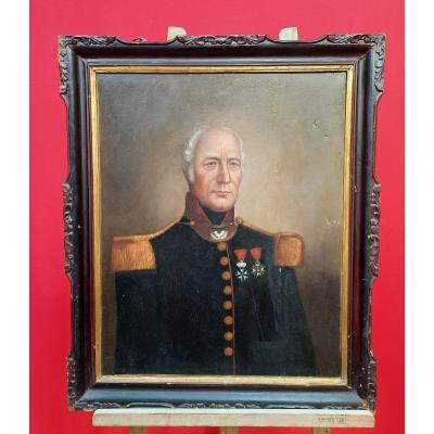 Portrait d'un militaire XIXème
