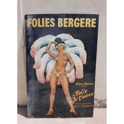 Poster Of The Folies Bergères.