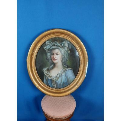 Portrait De Femme époque XIXème.