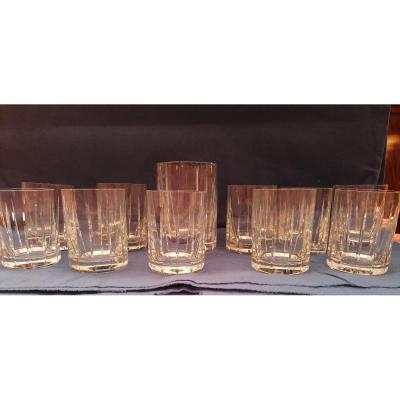 Lot De 12 Verres à Whisky en cristal de Sèvres
