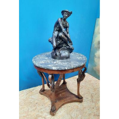 Empire Style Pedestal Table.