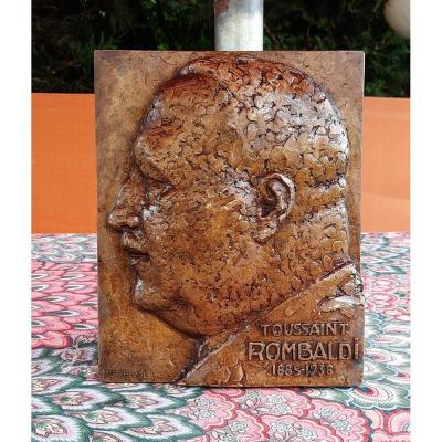 Bas Relief In Bronze Mr. Rombaldi