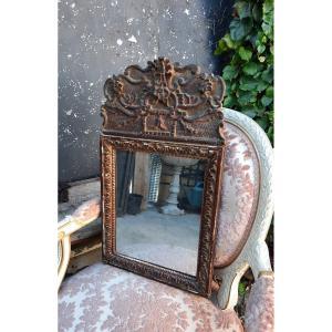 Miroir à fronton XIXème.