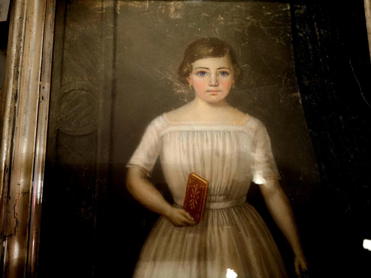 Pastel, Portrait d'Enfant XIXème-photo-2