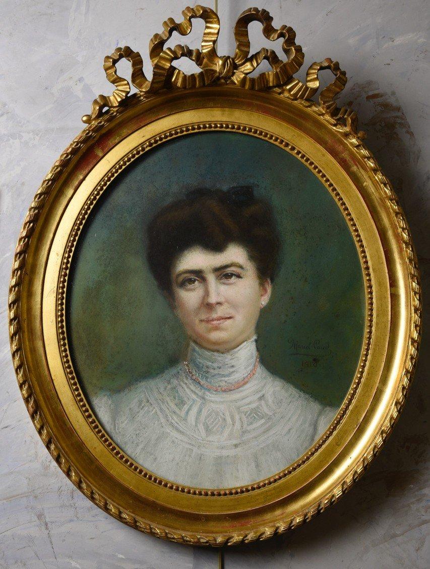 Pastel Paul Caud, Portrait Of Woman 1910
