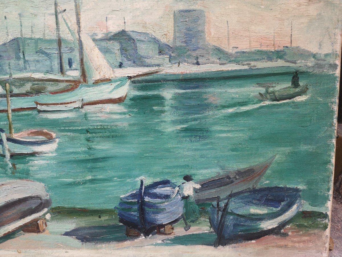 Roger Marcel Limouse (1894 - 1989), Le Port De Cassis 1932 -photo-2