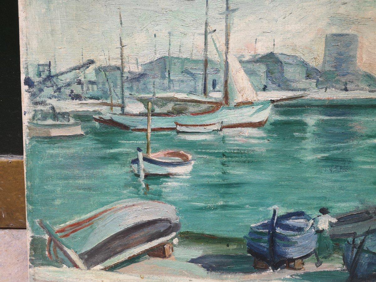 Roger Marcel Limouse (1894 - 1989), Le Port De Cassis 1932 -photo-4