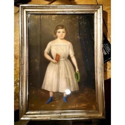 Pastel, Portrait d'Enfant XIXème