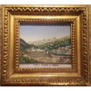 Diorama époque 18ème , Paysage Du Lac De Côme