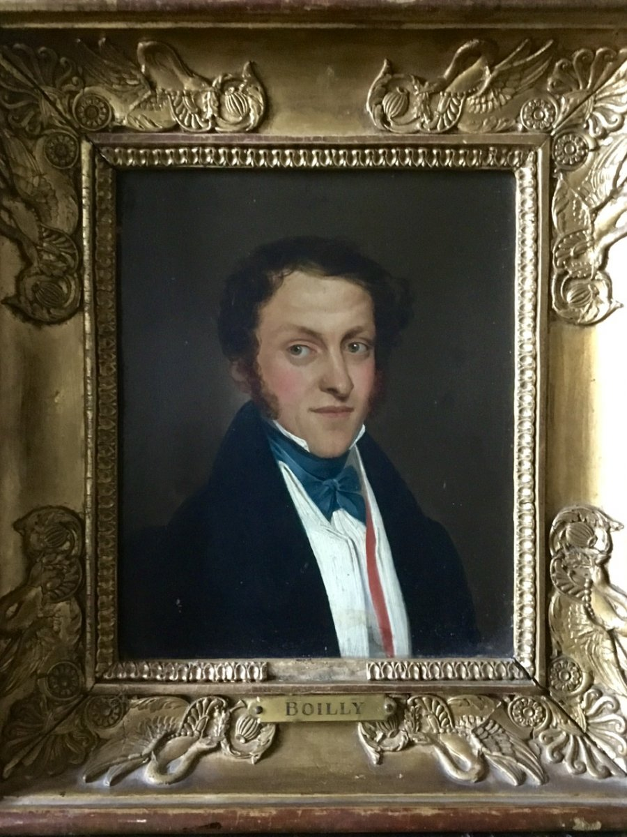 Portrait Of Man Early Nineteenth Attributed To Boilly