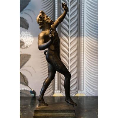Statuette Du Faune Dansant De Pompeii