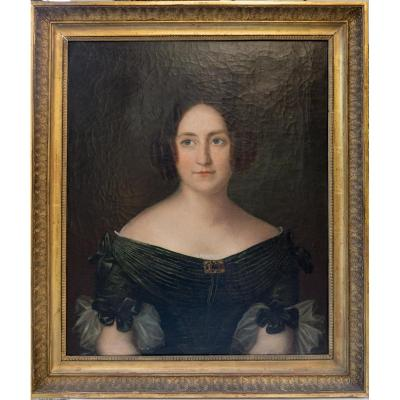 Portrait Of Lady Of The Restoration Period
