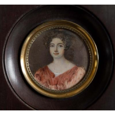 Miniature: Portrait Of Young Woman, Restoration Period
