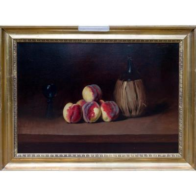 Still Life With Peaches By A. F. Bonnardel