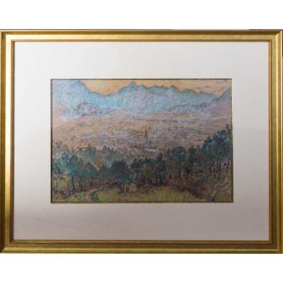 Paysage Préalpin De Curt Ziegra ( 1878 - 1946)