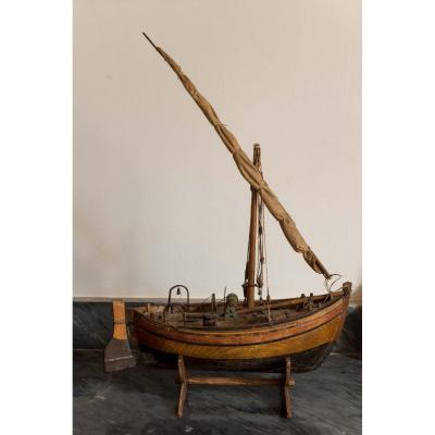 Old Model Of A Fishing Boat