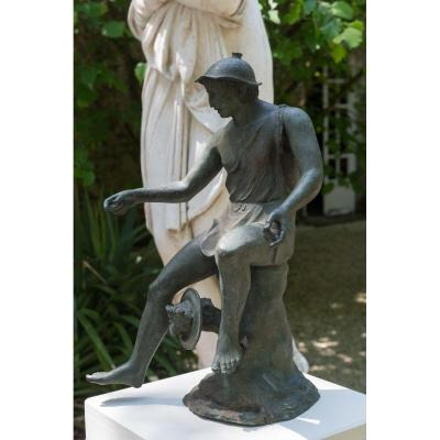 Bronze After The Antique: The Neapolitan Fisherman From Pompeii Signed