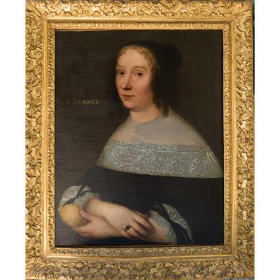 Portrait XVIIème De La Princesse d'Orange