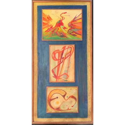 Oil on Panel, 106 X 50 cm Signed upper right Proveance: - private collection, Paris - Briest sale (drouot on November 22, 1989)