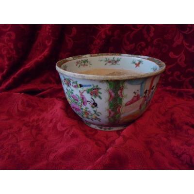 Cache Pot En Porcelaine De Canton XIXe