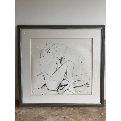 Camille Hilaire 1916-2004 : Nu /encre