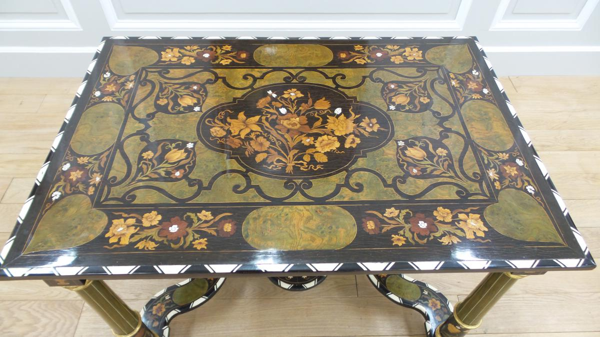 Table Style Louis XIV Marquetry - tables