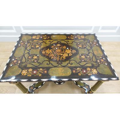 Table De Style Louis XIV En Marqueterie