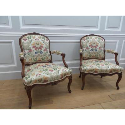 Louis XV Period Armchairs