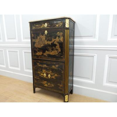 Lacquer Secretary From China Louis XVI