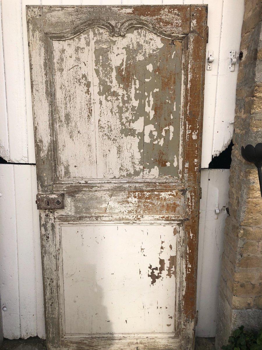 Porte En Chêne XVIII ème -photo-2
