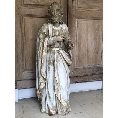 Statue D'un Saint époque XVIII ème