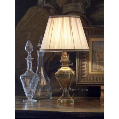 Lampe Athénienne à Têtes De Béliers, XIXe