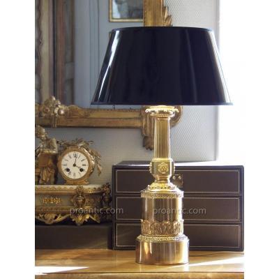 Lampe colonne Empire, début XIXe