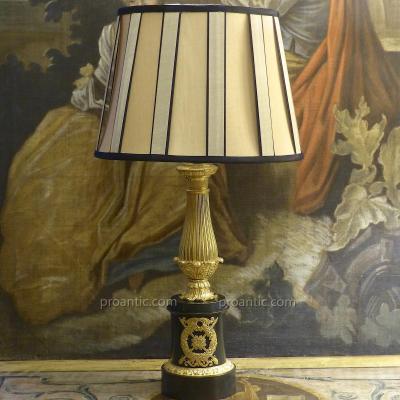Lampe Carcel en bronze doré époque Louis-Philippe, début XIXe