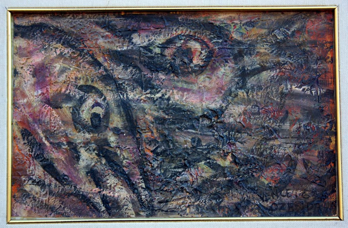 Oil On Cardboard,  Outsider Art, François Ozenda 1963