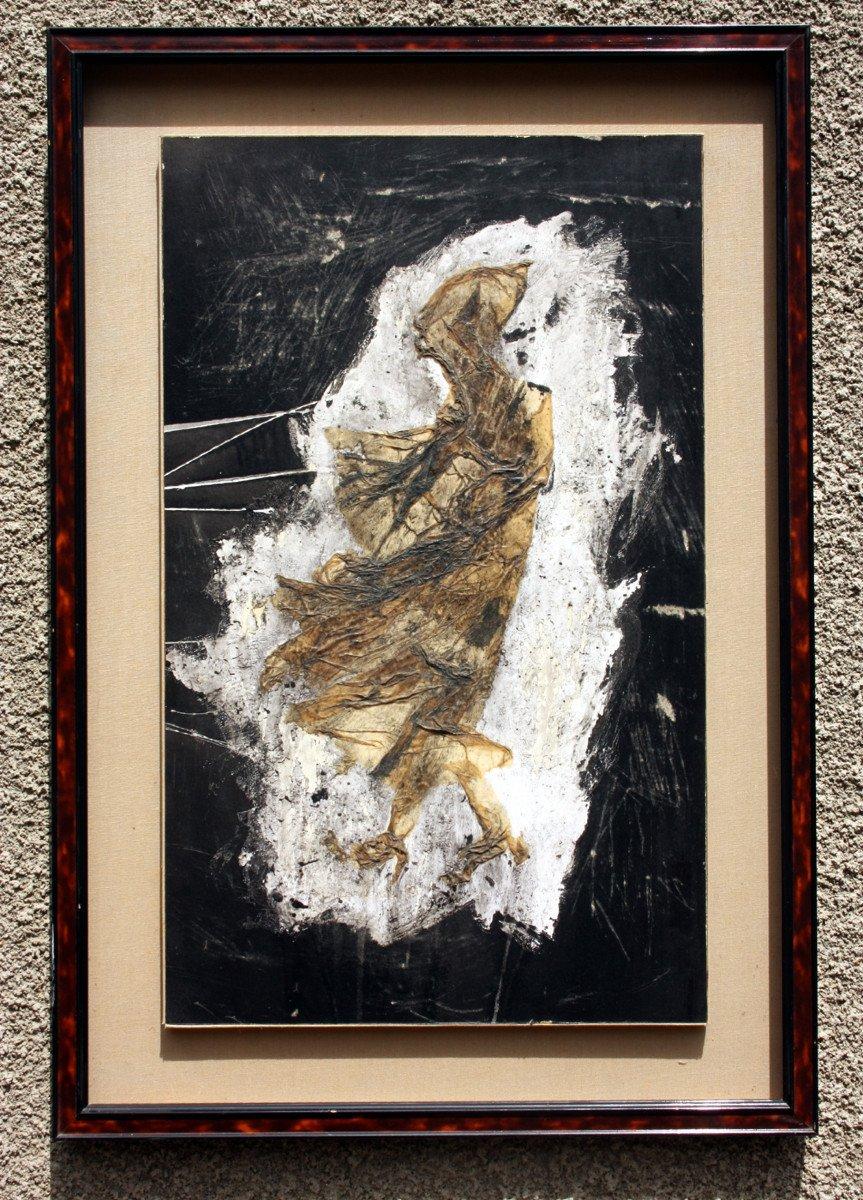 Tableau d'Art Brut Par Pierre Carbonnel