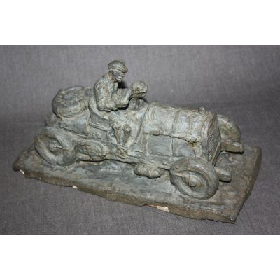 Automobilia Sculpture. Veteran Car .