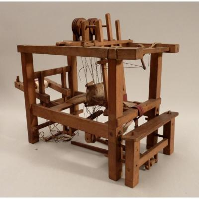 Miniature Of A Weaving Loom