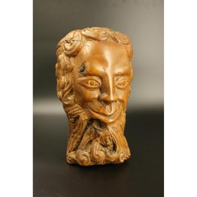 Faun Head Sculpture