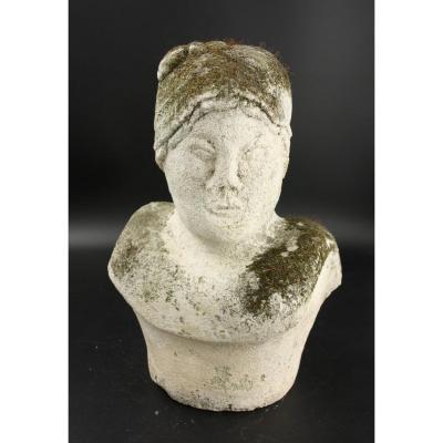 Stone Bust, Naif Art, Around 1920