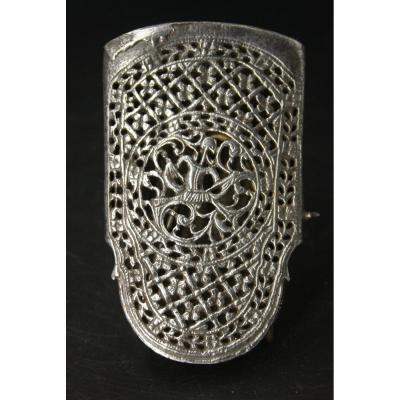 Chased And Openwork Wrought Iron 17c Scabbard Part