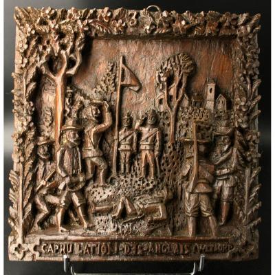 Tableau Sculpté En Relief, Art Populaire, Guerre Des Boers