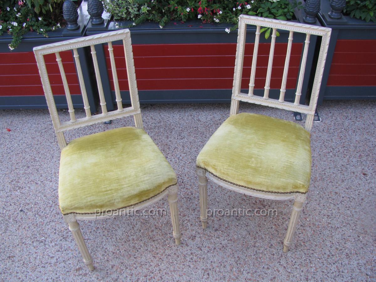 Pair Of Musician Chairs Louis XVI