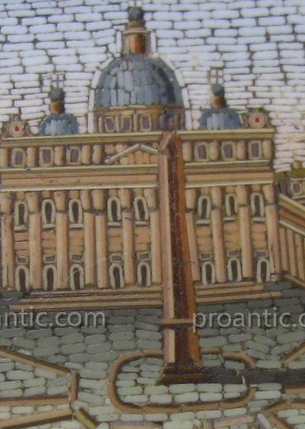 """Broche  Micromosaique  Italie  19ème  """"Grand Tour""""-photo-3"""