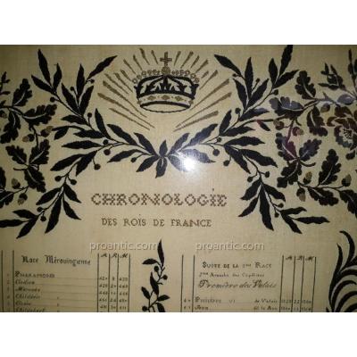 Broderie Des Rois De France Art Populaire Bourgeois Epoque Napoléon III