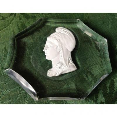 Paperweight, Cristallo-porcelain, Saint-mandé Nineteenth