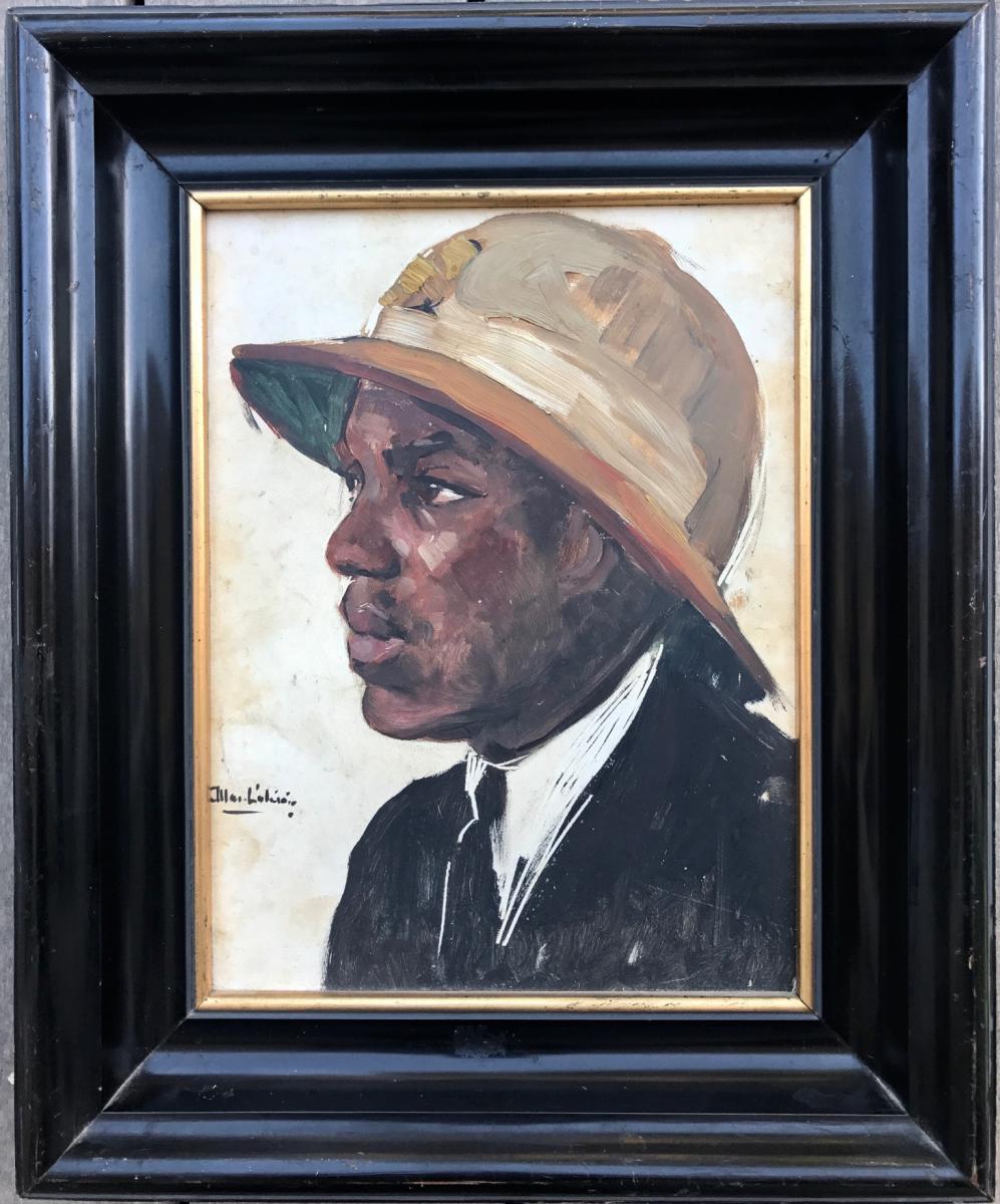 Allard L Olivier 1883/1933 Portrait De Noir