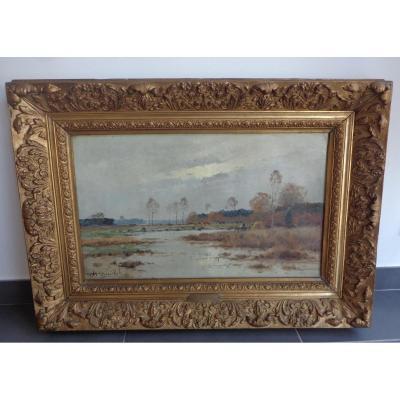 Paysage De Sologne Par Charles Marechal 1801/1887