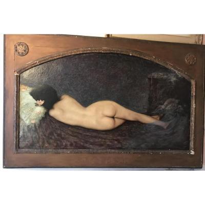 Huile/toile Nue De Angelo Enrie 1884/1945